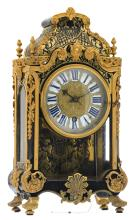 An 18thC French Boulle cartel clock, gilt bronze mounts and marquetry in contrepartie, the work marked 'Thuret à Paris' (probably Jacques Thuret III, 1669-1738), H 42 - W 27 cm