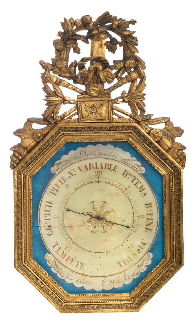 A barometer in the 18thC manner, H 93 - W 52,5 cm