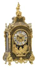 A second half of the 19thC Neoclassical Boulle cartel clock, gilt bronze and brass mounts and ebonised wood, the work marked 'S. Marti et Cie?', H 84,5 cm