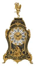A late 19thC French gilt bronze and brass mounted Boulle cartel clock, H 72 cm