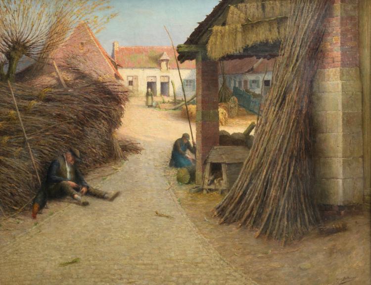Ballewyns G., a rural view, oil on canvas, ex. exhibition MSK Oostende, 90,5 x 114 cm