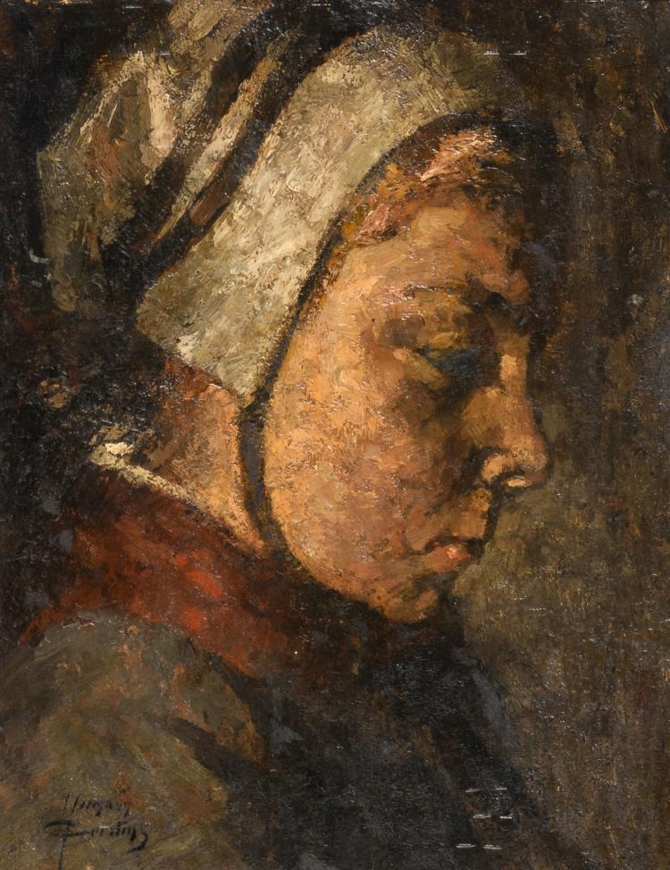 Courtens H., a portrait of a lady, oil on panel, 26,5 x 32,5 cm