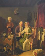 Eeckhout J.J., a son? a daughter?, oil on panel, dated 1825, 45 x 56 cm
