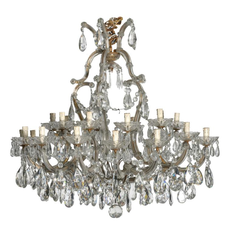 An important crystal chandelier,H 96 - W 97,5 cm