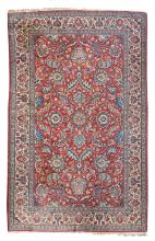 Persian rug, wool on cotton, with floral motifs, 149 x 230 cm