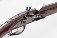 Beautiful Am. style Flintlock Rifle-S.D. Hughes