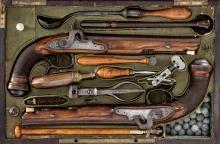 Cased Set of Belgian Perc. Target Pistols