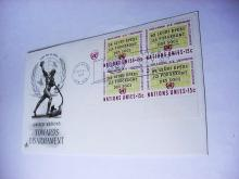 1967 UNITED NATIONS FIRST DAY COVER