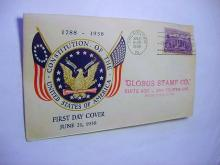 1938 CONSTITUTION FIRST DAY COVER