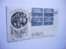 1956 UNITED NATIONS HUMAN RIGHTS FIRST DAY COVER
