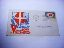 1943 WORLD WAR 2 OVER RUN COUNTRY FIRST DAY COVER