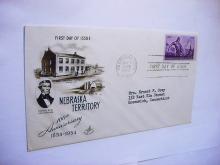 1954 NEBRASKA FIRST DAY COVER