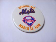 1998 OPENING DAY METS  VS. PHILLIES