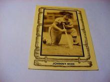 JOHNNY MIZE BASEBALL CARD