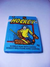 1982-1983 O PEE CHEE NHL HOCKEY UNOPENED WAX PACK BUBBLE GUM WITH CARDS