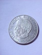 1968 SWEDEN 1 KRONOR SILVER COIN