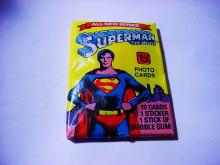 1979 SUPERMAN THE MOVIE PHOTO 10 CARDS UNOPENED WAX PACK