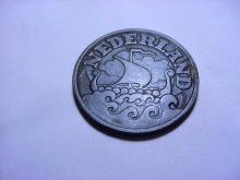 1942 NETHERLANDS 25 CENTS ZINC