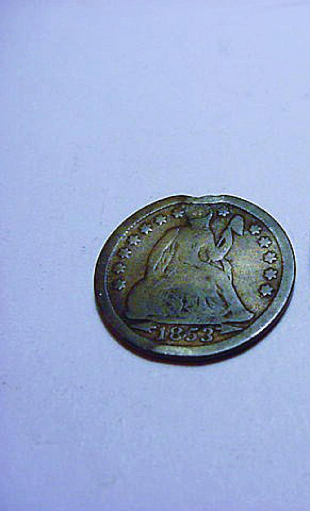 1853 SEATED DIME