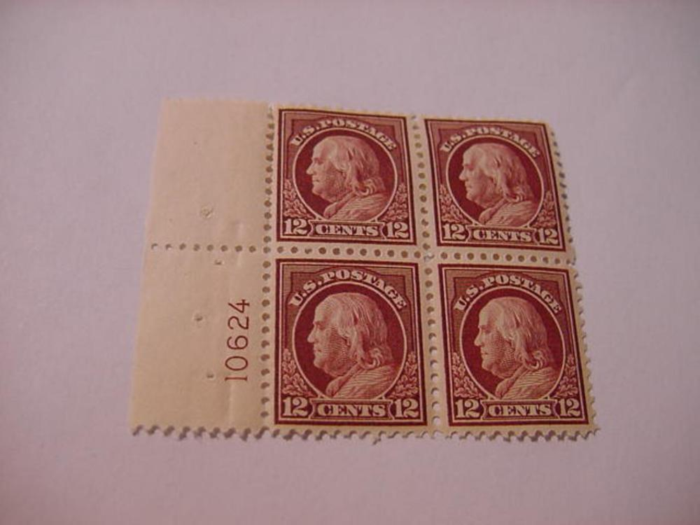 FRANKLIN 12 CENT BLOCK OF  4  STAMPS