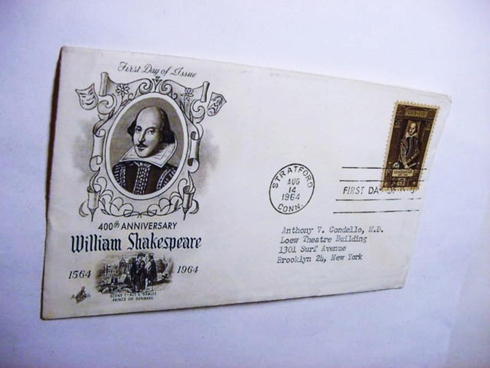 1964 WILLIAM SHAKESPEARE FIRST DAY COVER