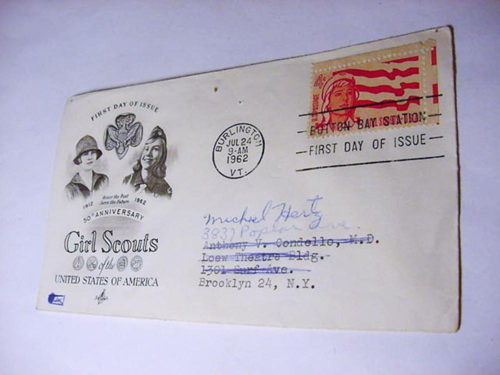 1962 GIRL SCOUTS FIRST DAY COVER