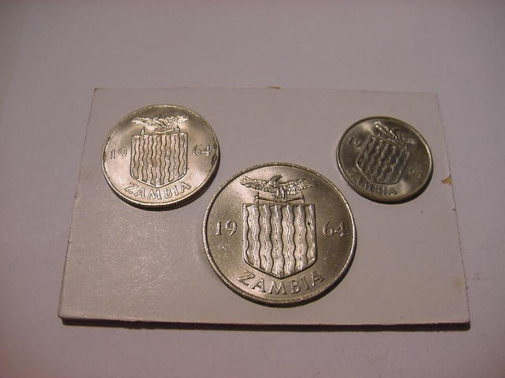 1964 ZAMBIA COIN SET UNCIRCULATED