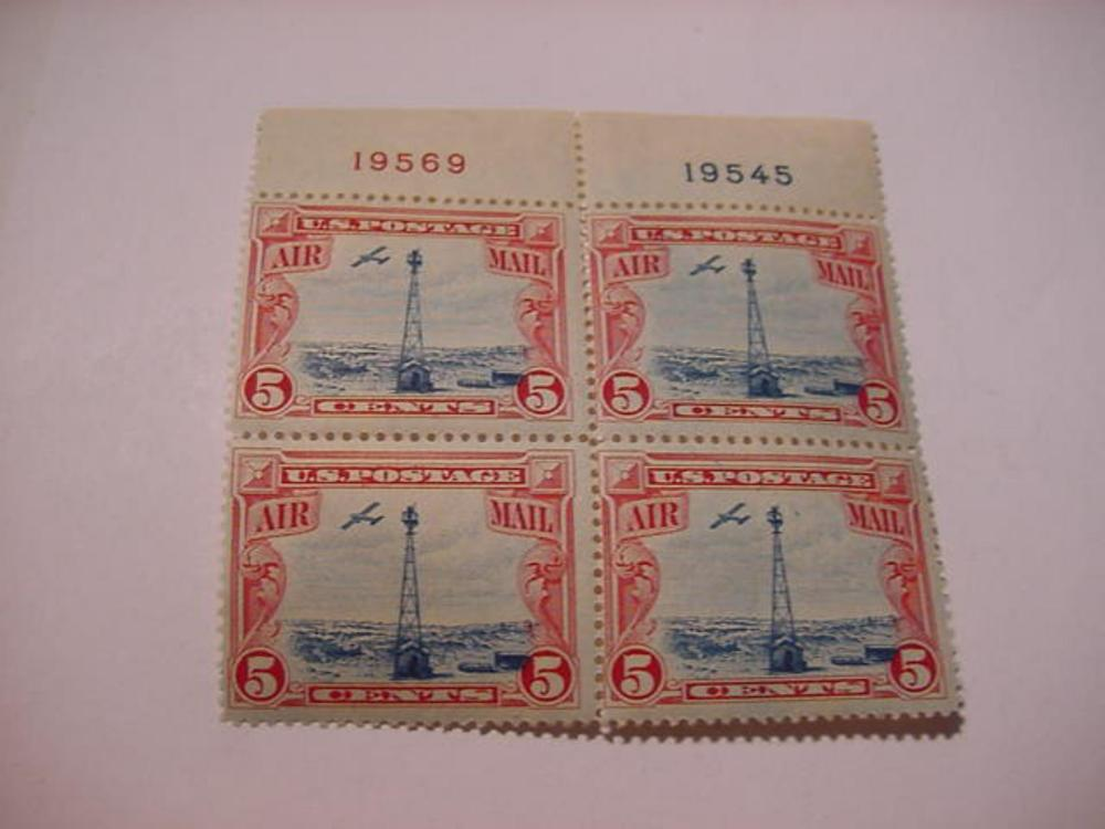 EARLY AIRMAIL BLOCK OF 4  STAMPS