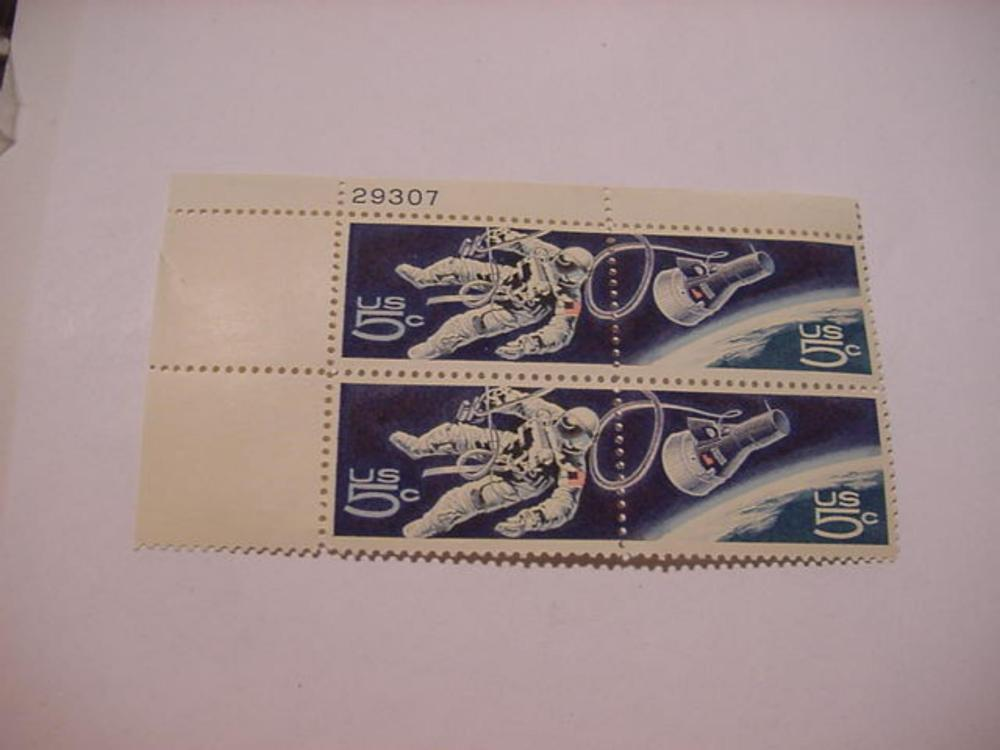 SPACE TWINS PLATE BLOCK