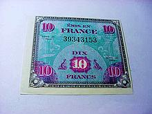 1944 FRANCE MILITARY PAYMENT CURRENCY