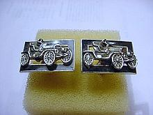 ANTIQUE SIGNED  SHIELDS CAR CUFF LINKS