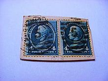 EARLY PAIR U.S. STAMPS