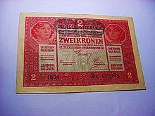 1912 GERMANY 2 KRONEN BANKNOTE