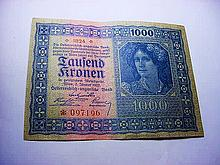 1922 GERMANY 1000 KRONEN BANKNOTE