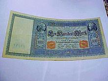 1910 GERMANY 100 MARK BANKNOTE