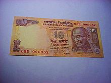 INDIA 10 RUPEES BANKNOTE