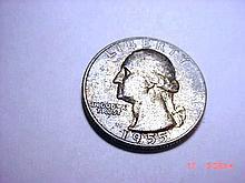 1955 WASHINGTON QUARTER B.U.