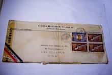 1943 DOMINICAN REPUBLIC EXAMINED AIRMAIL COVER
