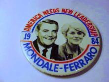 1984 MONDALE FERRARO CAMPAIGN BUTTON