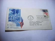 1964 REGISTER TO VOTE FIRST DAY COVER