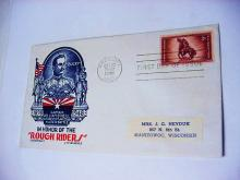 1948 ROUGH RIDERS FIRST DAY COVER