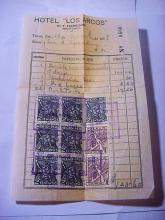 1938 MEXICO HOTEL RECEIPT WITH STAMPS