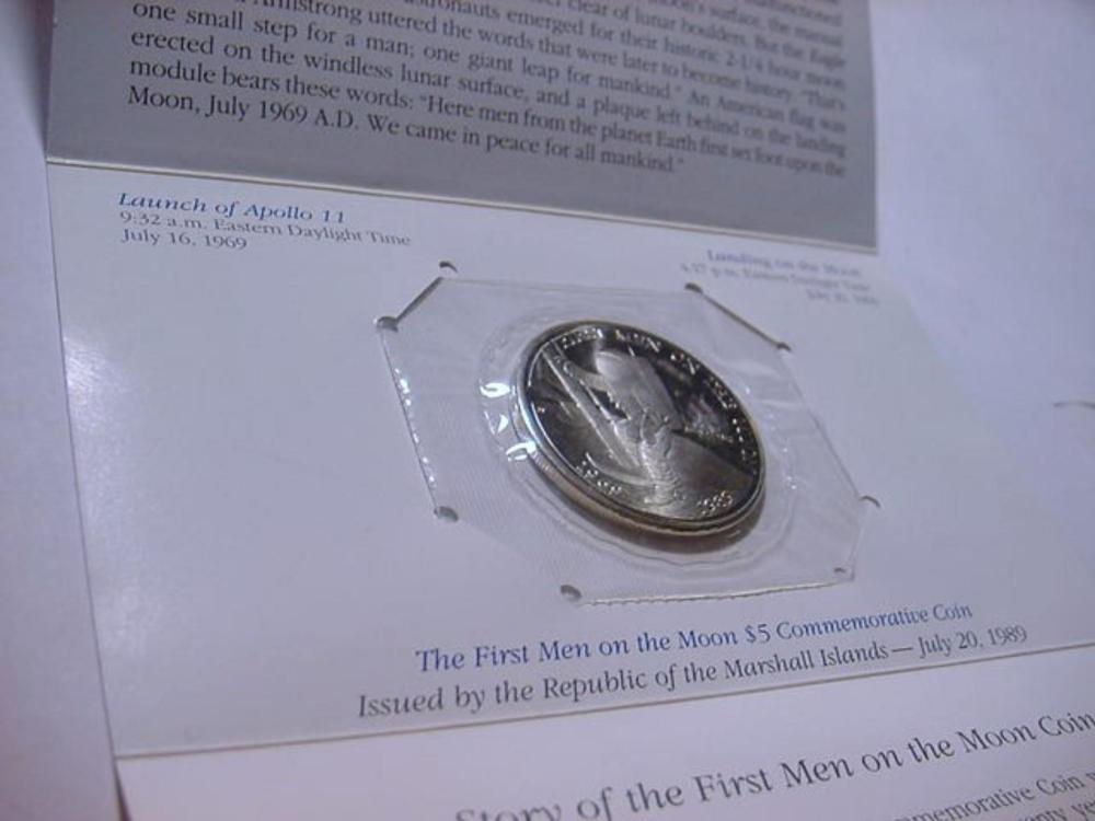 1989 MARSHALL ISLANDS FIRST MAN ON THE MOON GEM BRILLIANT