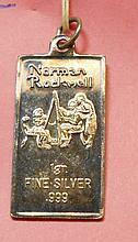 NORMAN ROCKWELL 1 GRAM .999 FINE SILVER BAR