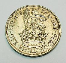 1936 GREAT BRITAIN SHILLING UNC