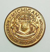 1933 MICHIGAN CENTURY OF PROGRESS MEDAL