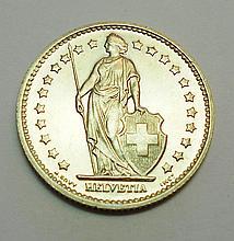 1973 SWISS FRANC GEM B.U.