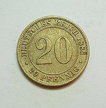 1888 GERMANY 20 PFENNING