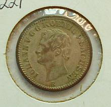 1868 SAXONY 10 PFENNING