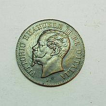 1867 M ITALY 2 CENTESIMI